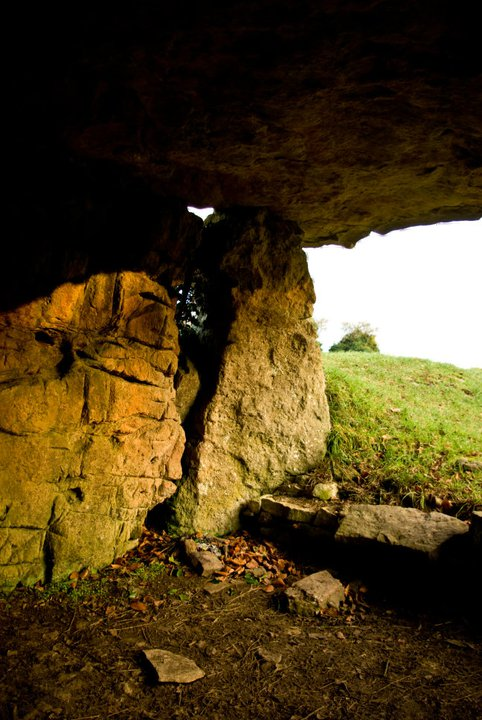 Interior of Tinkinswood Neolithic tomb